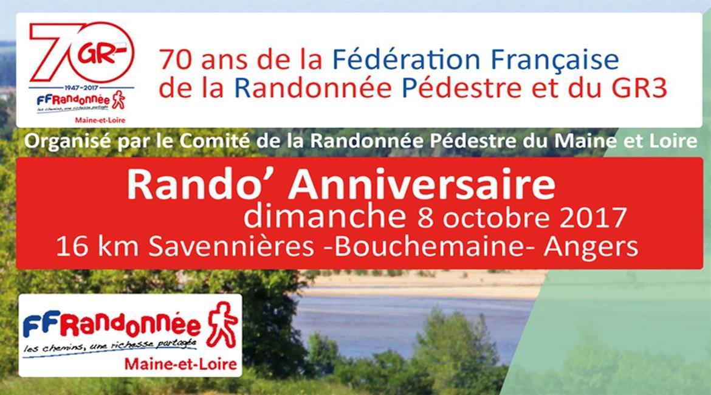 MAINE ET LOIRE: 70 ans de la Fédération et du GR3