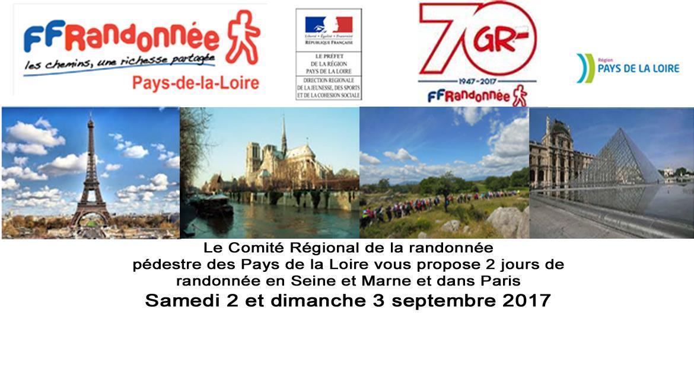 PAYS-DE-LA-LOIRE : Randonnée en Seine et Marne et dans Paris