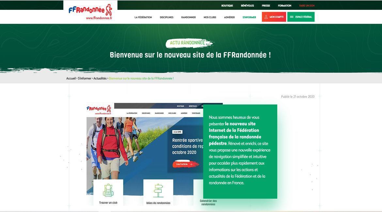 Nouveau site internet fédéral.